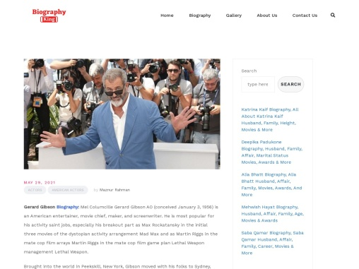Mel Gibson Biography, All About Mel Gibson Family, Affair, Wife, Age, Movie & More