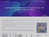 Significance of Keywords Part 2:Target Keywords, SEO Keywords, Right Keywords