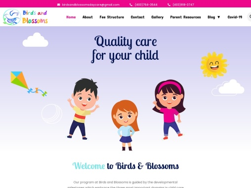 Birds and Blossoms – Quality Care For Your Child