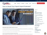 How to Boost Your Export Import Business?