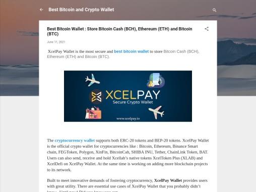 Best Bitcoin Wallet : Store Bitcoin Cash (BCH), Ethereum (ETH) and Bitcoin (BTC)