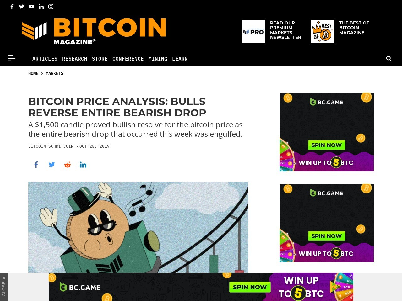 Bitcoin Price Analysis: Bulls Reverse Entire Bearish Drop