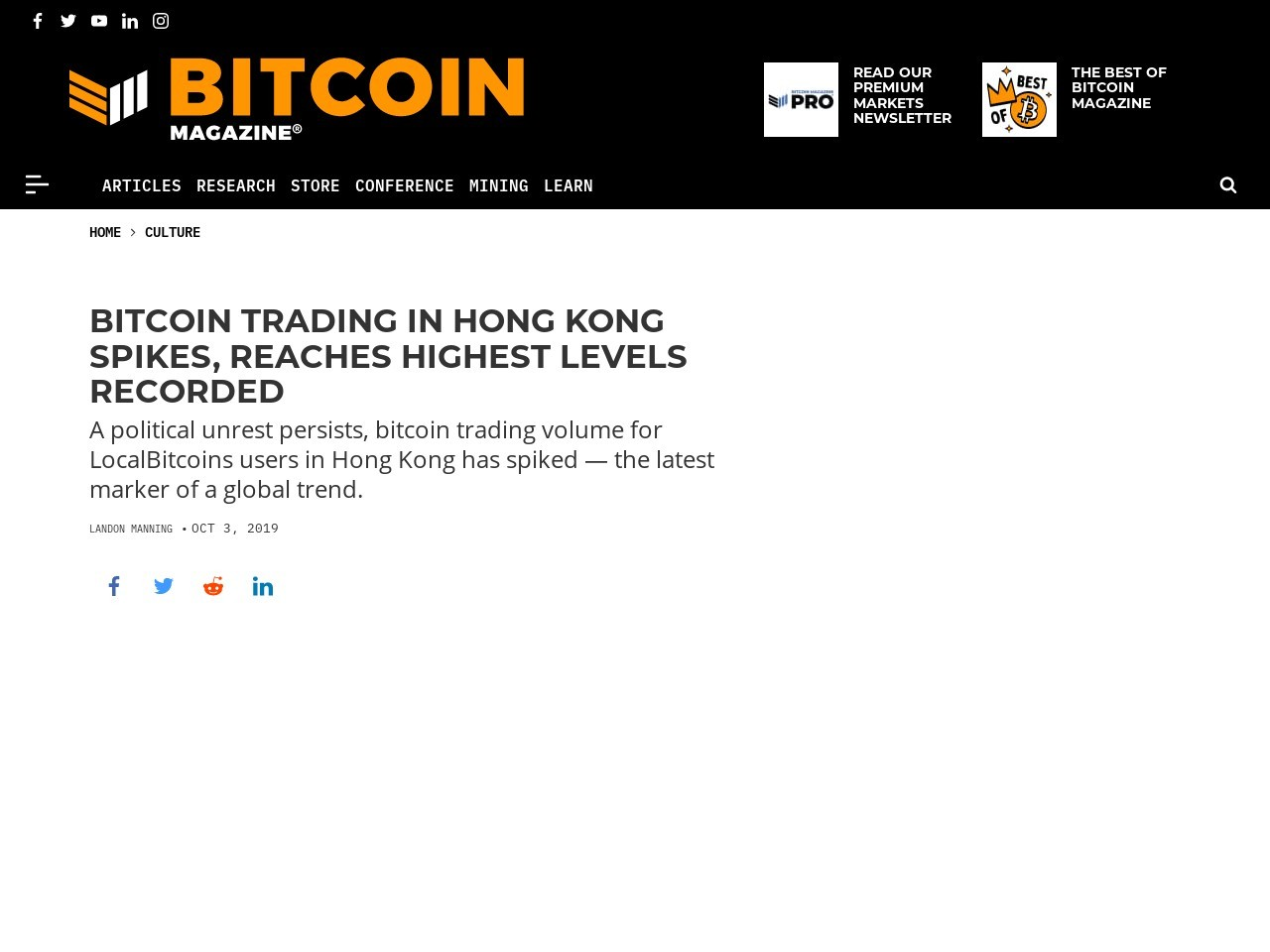 Bitcoin Trading in Hong Kong Spikes, Reaches Highest Levels Recorded