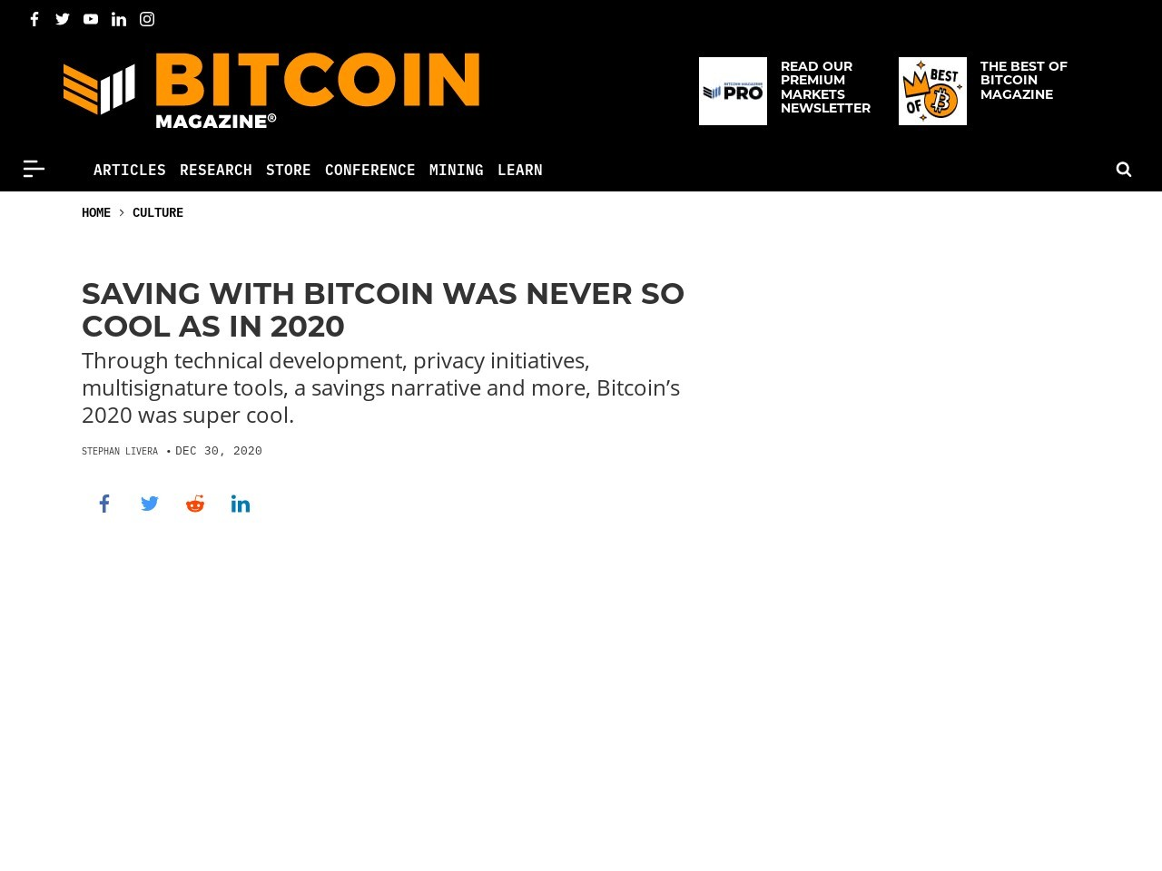 Saving With Bitcoin Was Never So Cool As In 2020