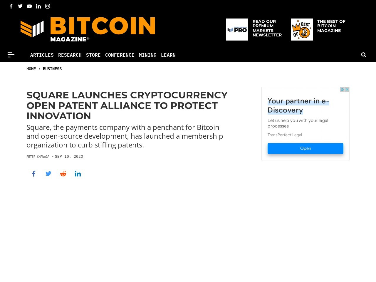 Square Launches Cryptocurrency Open Patent Alliance To Protect Innovation