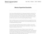 Bitcoin Superfund Australia – Invest superannuation in bitcoin