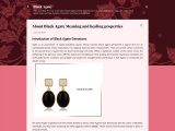 About Black Agate Meaning and healing properties
