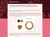 About Black Diamond Meaning and Healing Properties