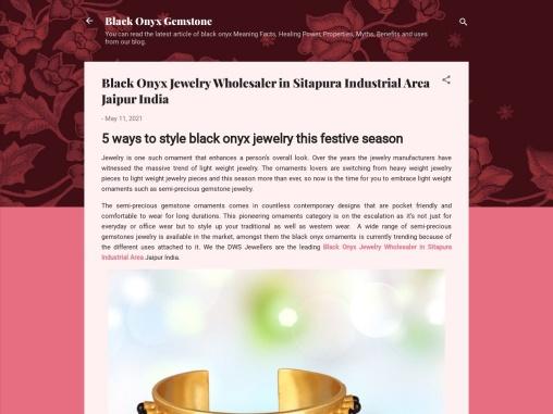 Black Onyx Jewelry Wholesaler in Sitapura Industrial Area Jaipur India