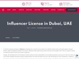 Influencer license in Dubai, UAE