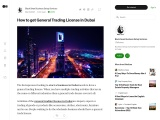 How to get General Trading License in Dubai