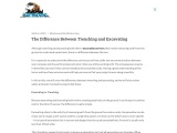 The Difference Between Trenching and Excavating