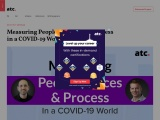 Measuring People, Places, and Process in a COVID-19 World