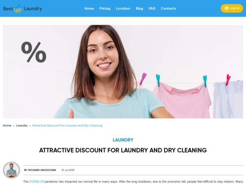 Attractive Discount For Laundry And Dry Cleaning – BestatLaundry