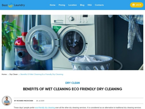 Benefits Of Wet Cleaning Eco Friendly Dry Cleaning