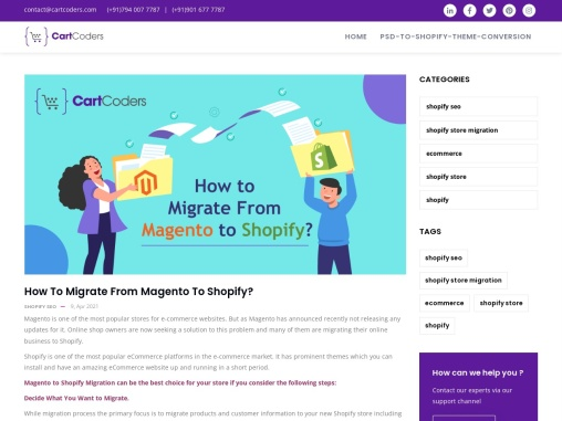 Magento to Shopify Migration Services – CartCoders