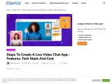 Is it possible to develop a video chat application?