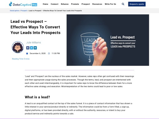 Prospect Qualified Leads | Guaranteed Qualified Sales Lead