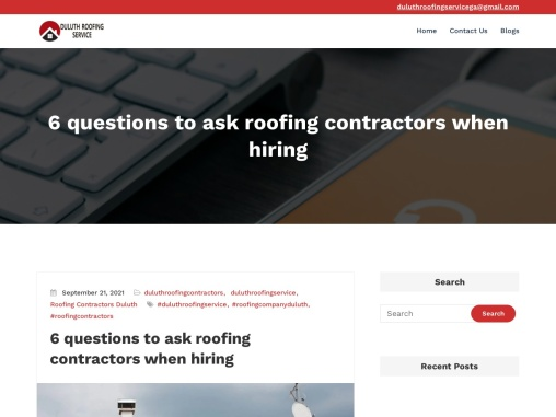 Duluth Roofing Contractors  –  Duluth Roofing Service