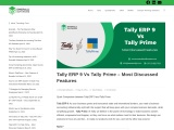 Tally ERP 9 Vs Tally Prime – Most Discussed Features