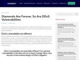 Diamonds are Forever. So are DDoS Vulnerabilities | MazeBolt