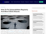 How to Fix Vulnerabilities Regularly and Block DDoS Attacks |MazeBolt