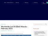 Worldwide list of DDoS attacks – February 2021 |MazeBolt