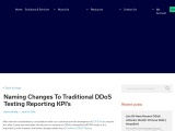 Naming Changes to Traditional DDoS Testing Reporting KPI's  |MazeBolt