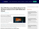 New WS-Discovery DDoS attack is yet another instance of a UDP reflection attack