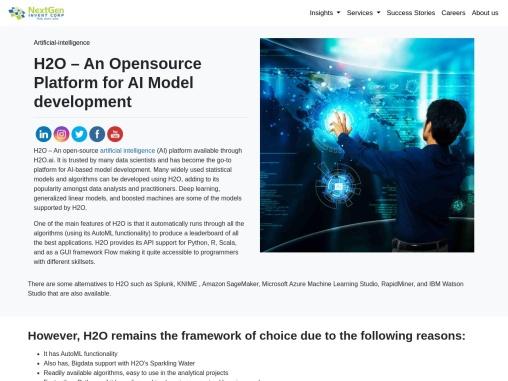 H2O – An Opensource Artificial Intelligence