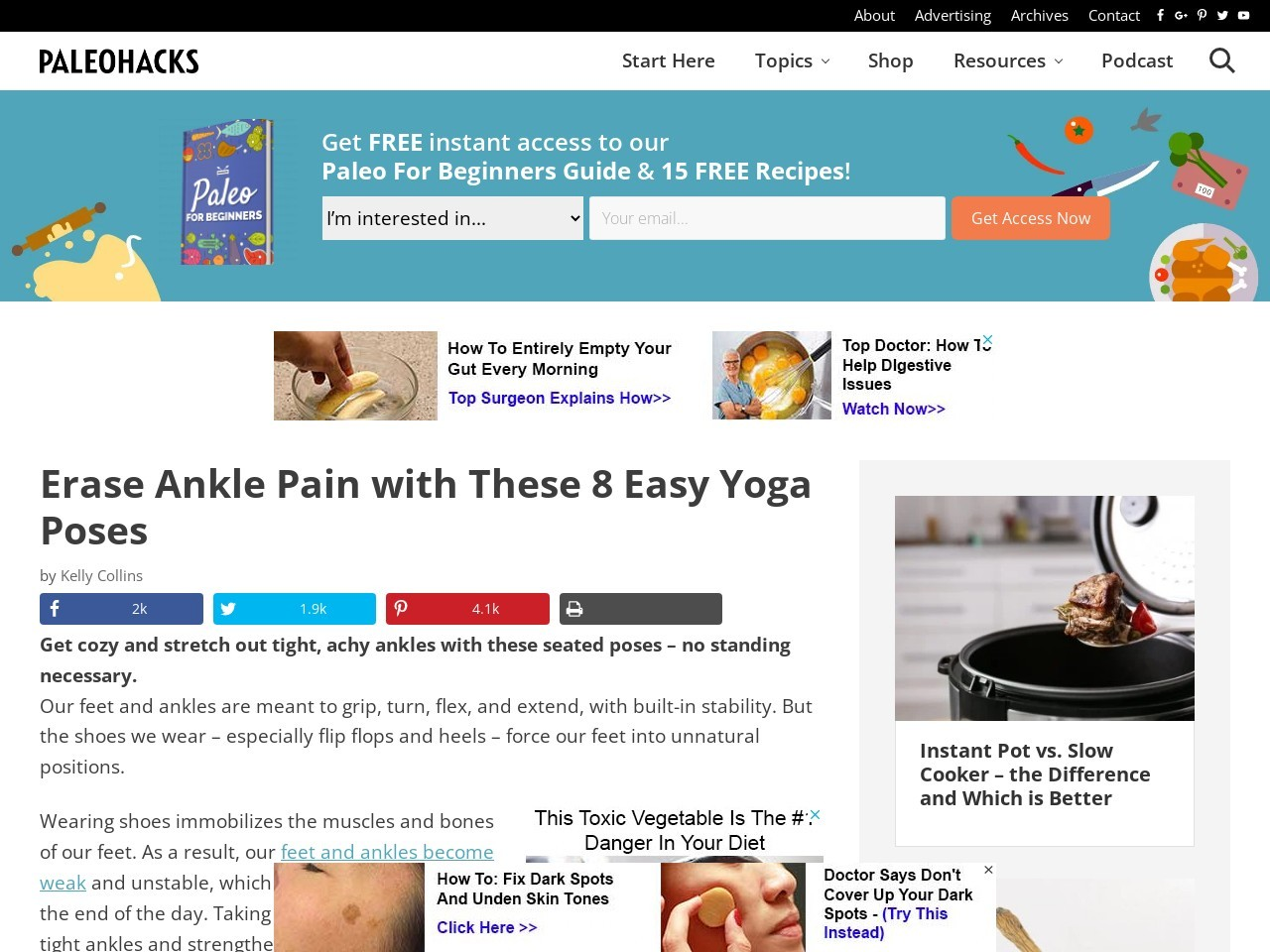 Erase Ankle Pain with These 8 Easy Yoga Poses