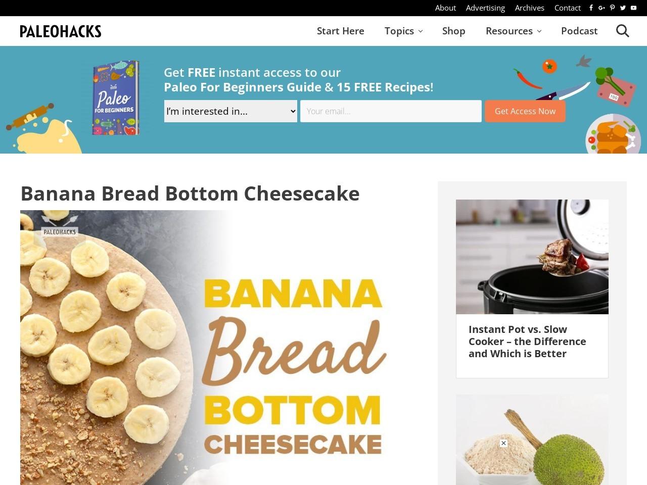 Banana Bread Bottom Cheesecake