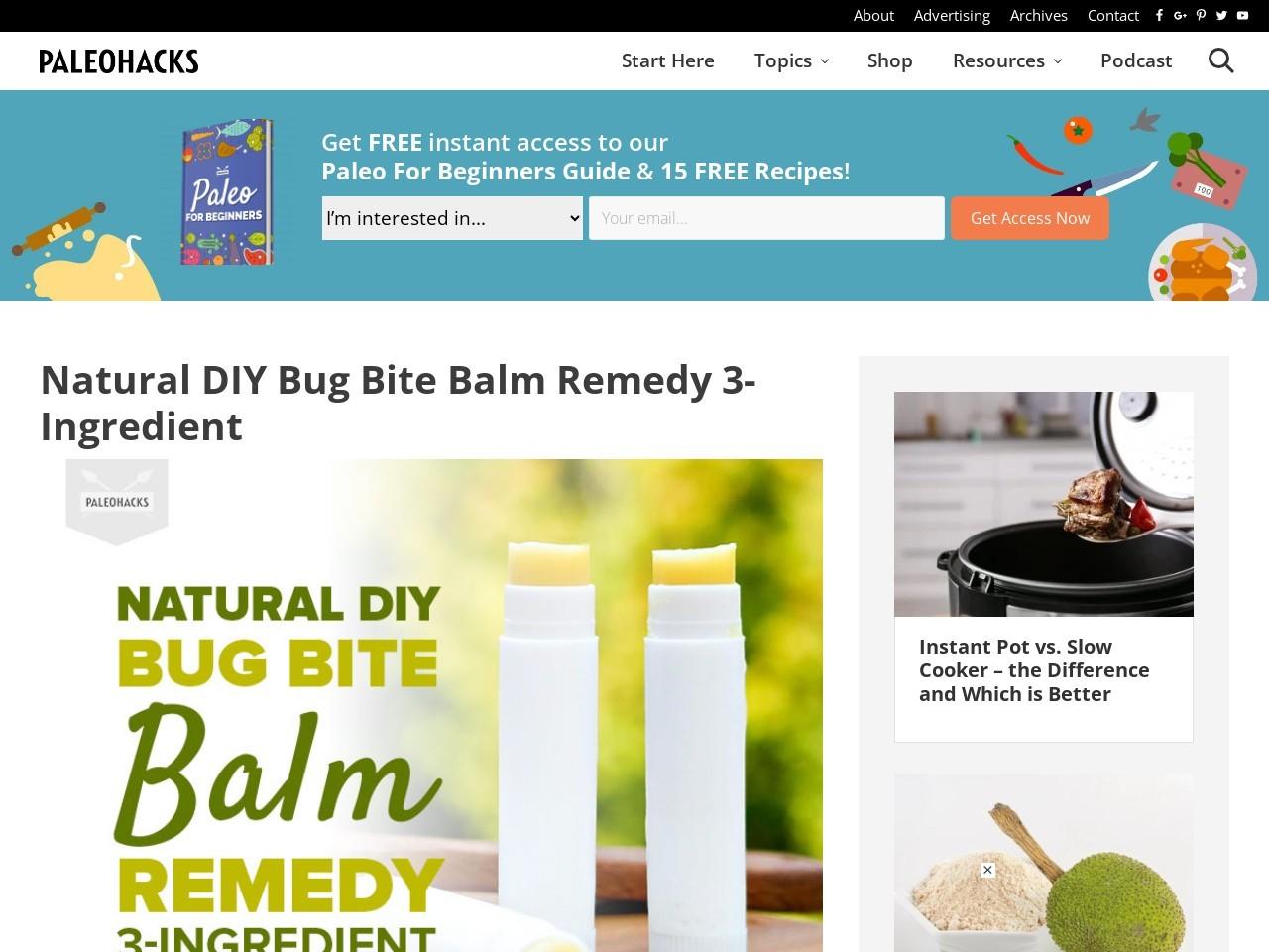 Natural DIY Bug Bite Balm Remedy 3-Ingredient