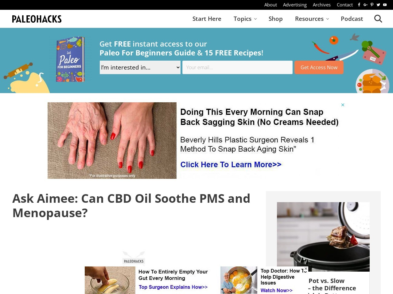 Ask Aimee: Can CBD Oil Soothe PMS and Menopause?