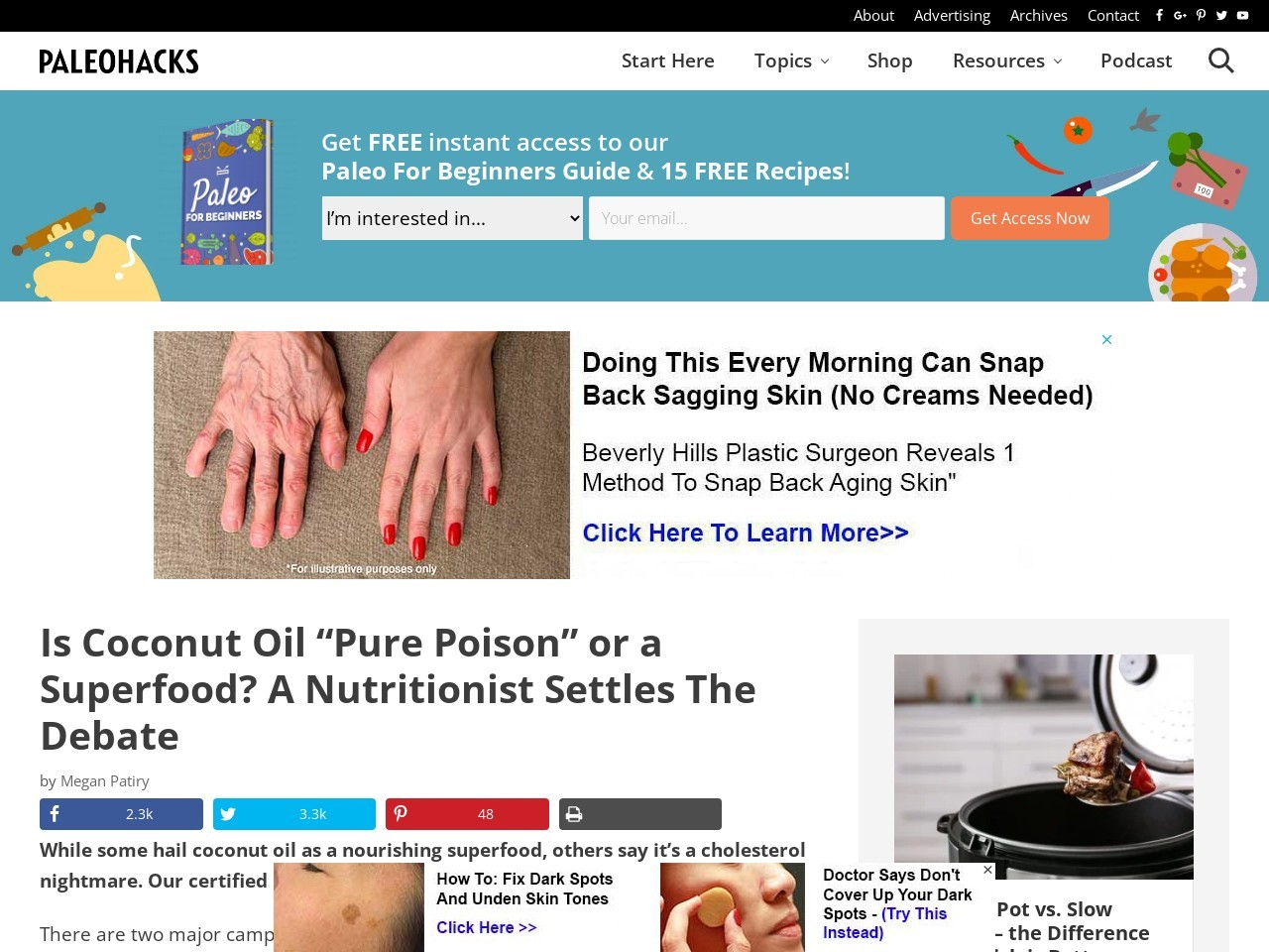 """Is Coconut Oil """"Pure Poison"""" or a Superfood? A Nutritionist Settles The Debate"""