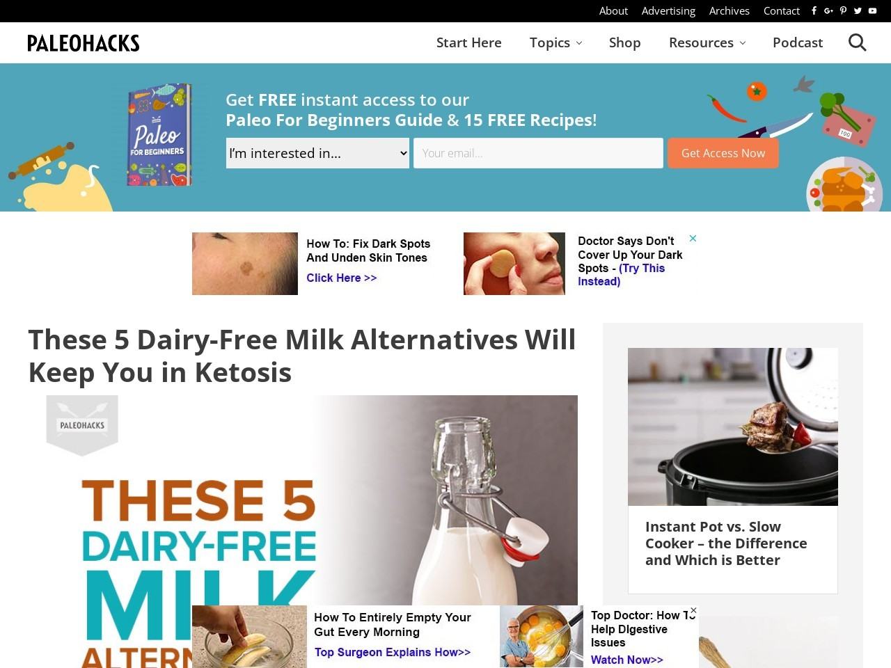 These 5 Dairy-Free Milk Alternatives Will Keep You in Ketosis