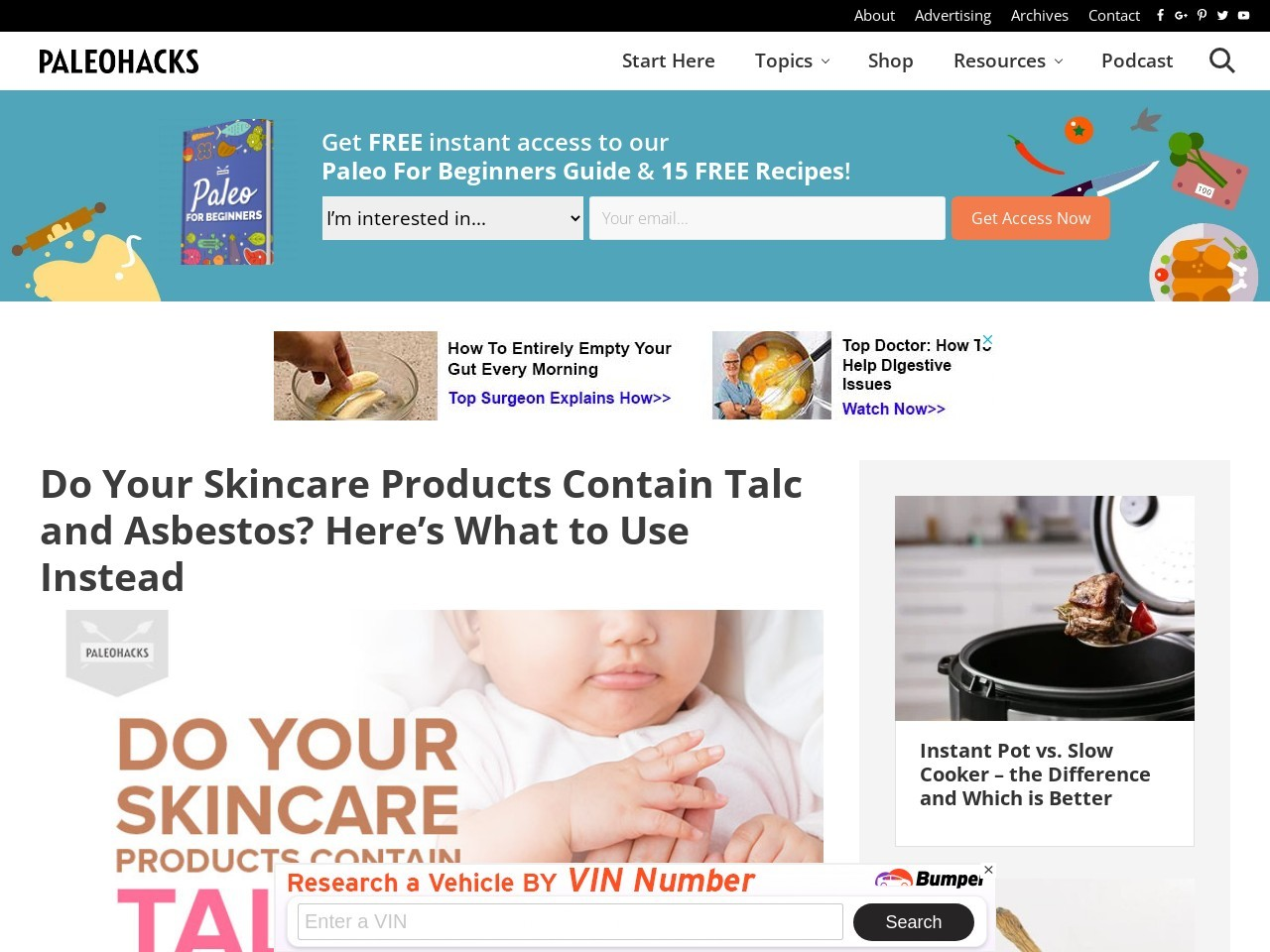 Do Your Skincare Products Contain Talc and Asbestos? Here's What to Use Instead