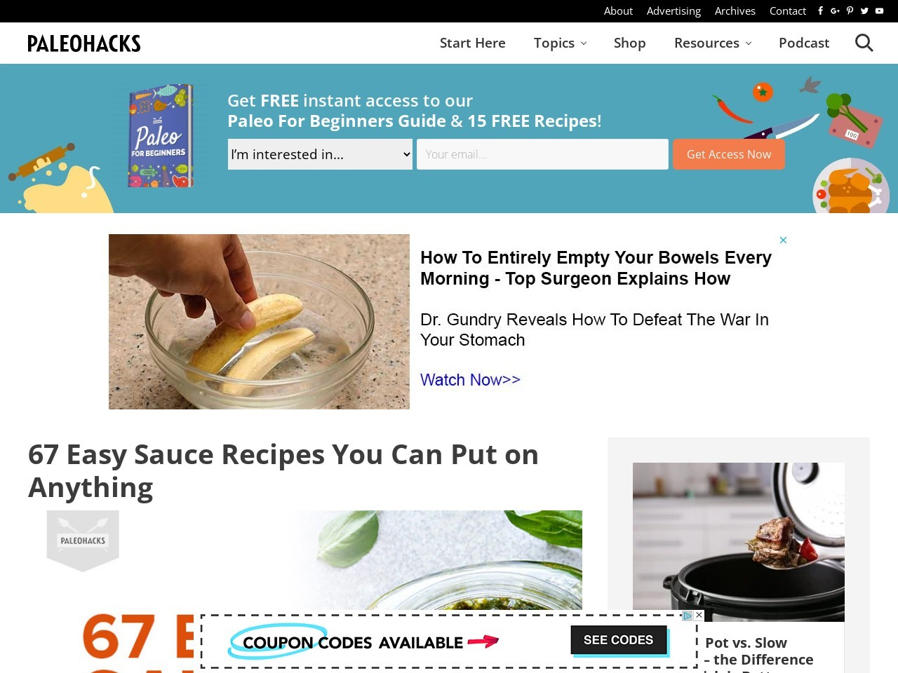 67 Easy Sauce Recipes You Can Put on Anything