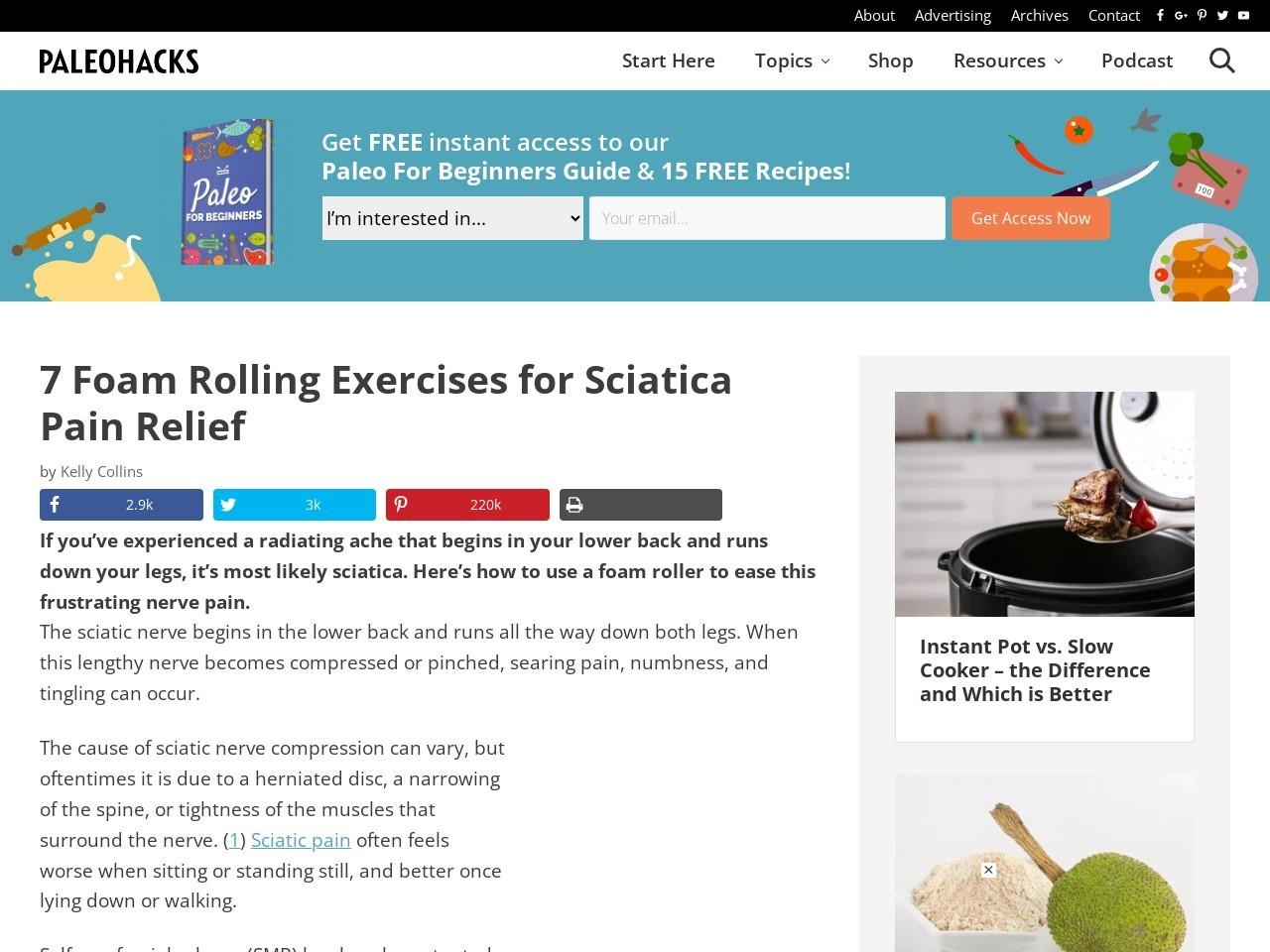 7 Foam Rolling Exercises for Sciatica Pain Relief