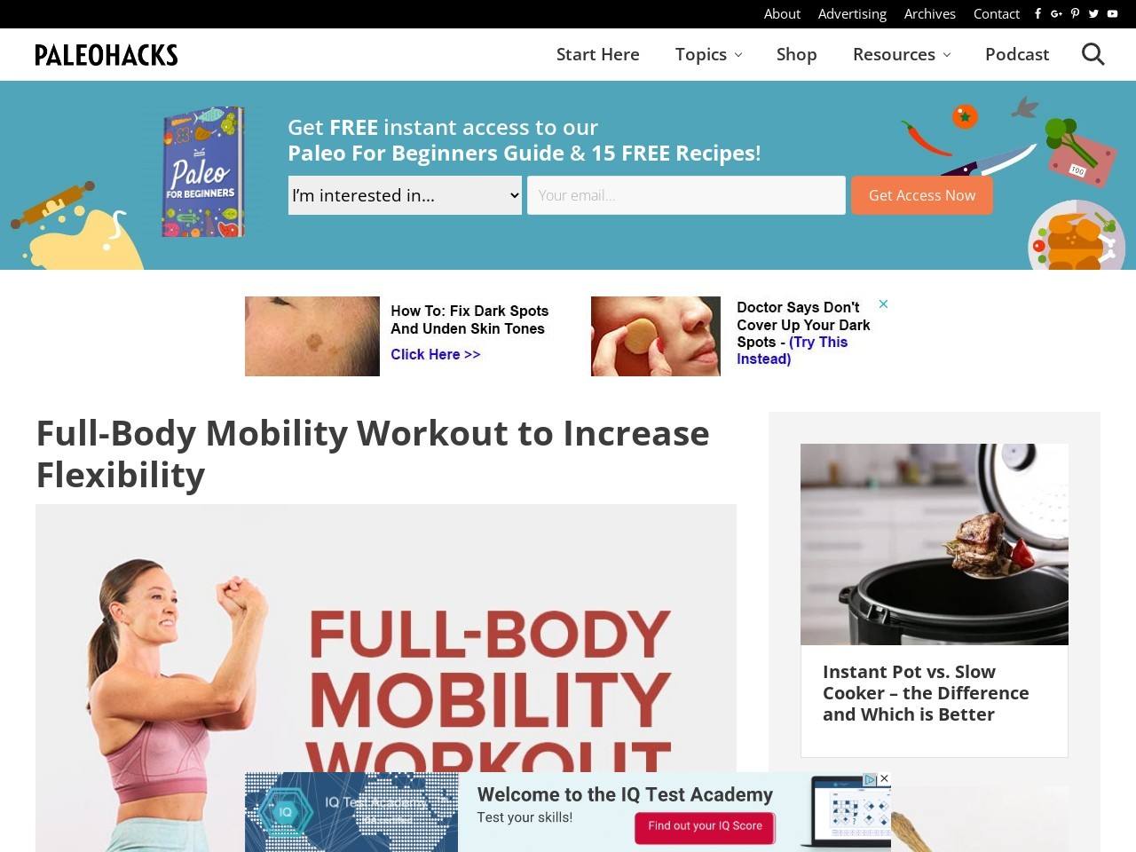 Full-Body Mobility Workout to Increase Flexibility