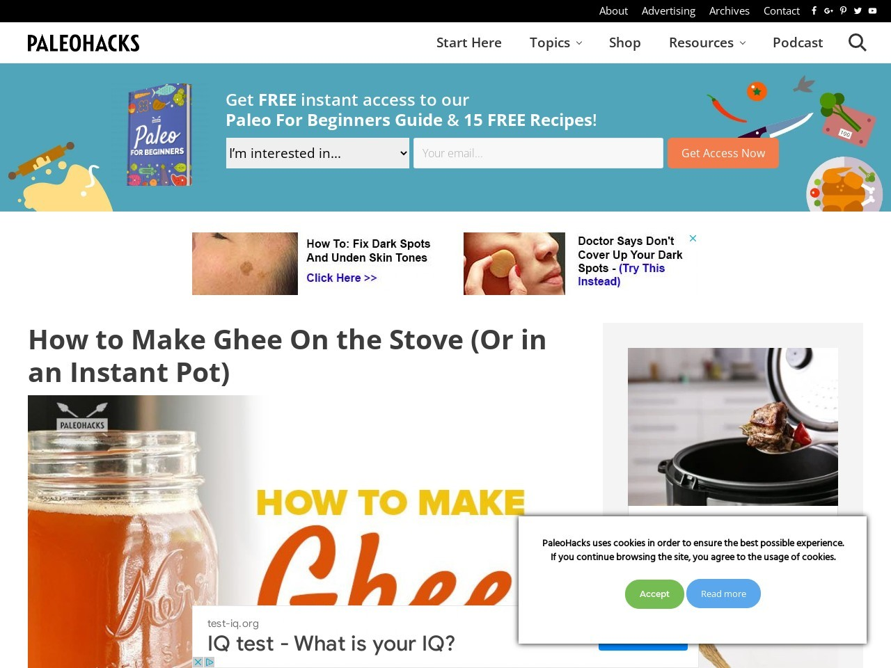 How to Make Ghee On the Stove (Or in an Instant Pot)