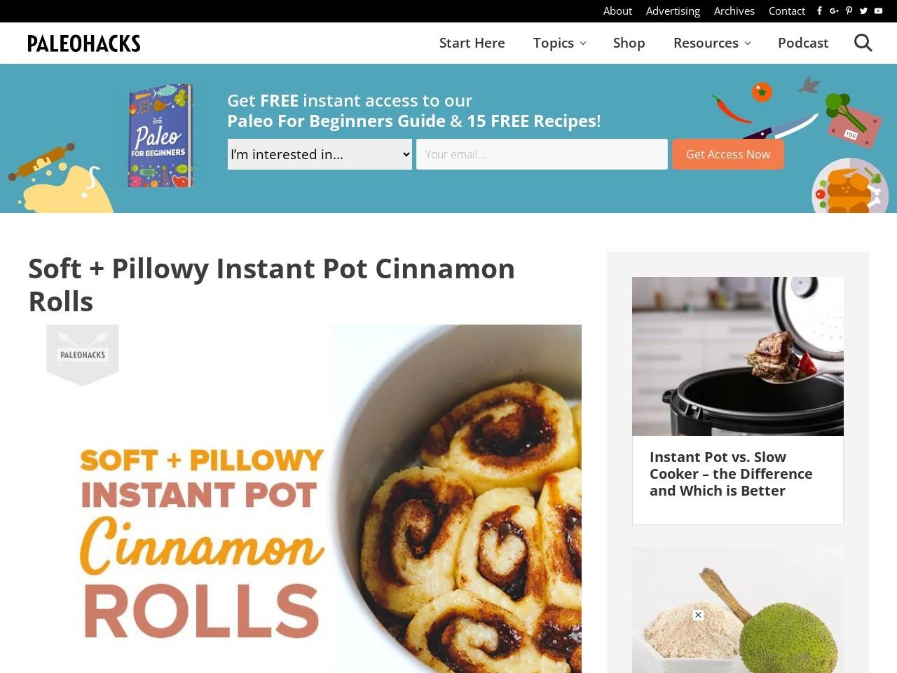 Soft + Pillowy Instant Pot Cinnamon Rolls
