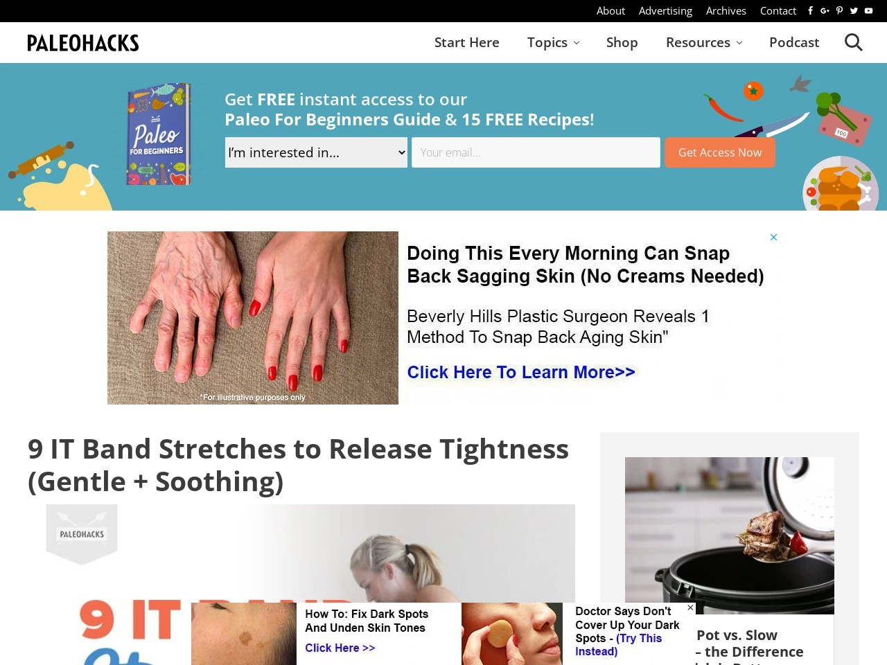 9 IT Band Stretches to Release Tightness (Gentle + Soothing)