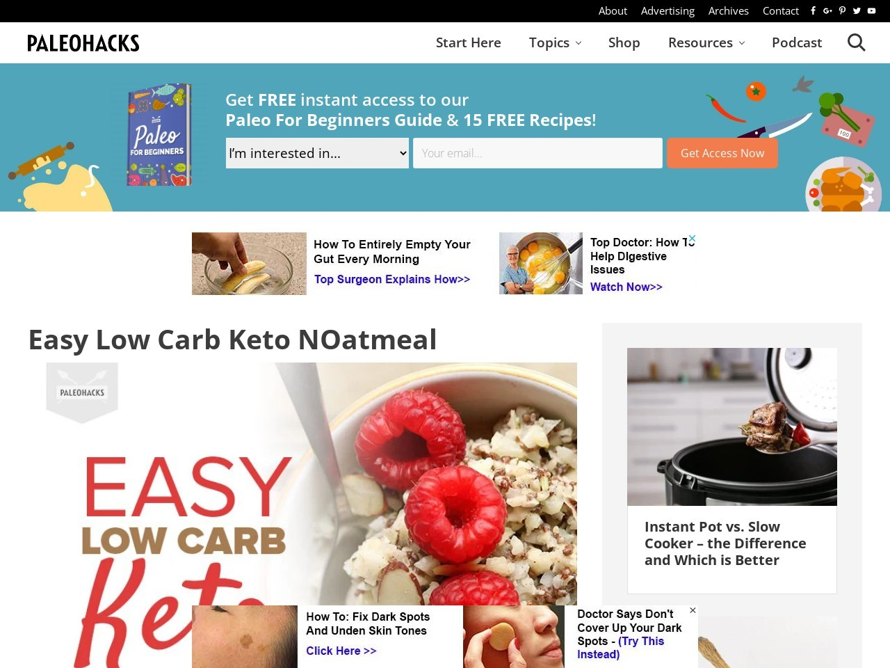 Easy Low Carb Keto NOatmeal