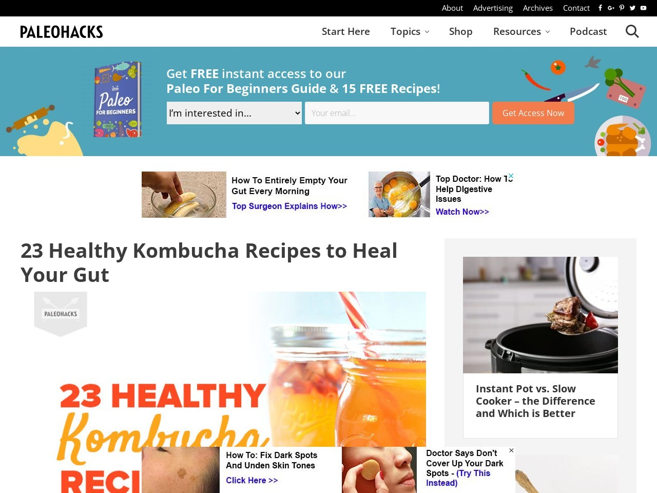 23 Healthy Kombucha Recipes to Heal Your Gut