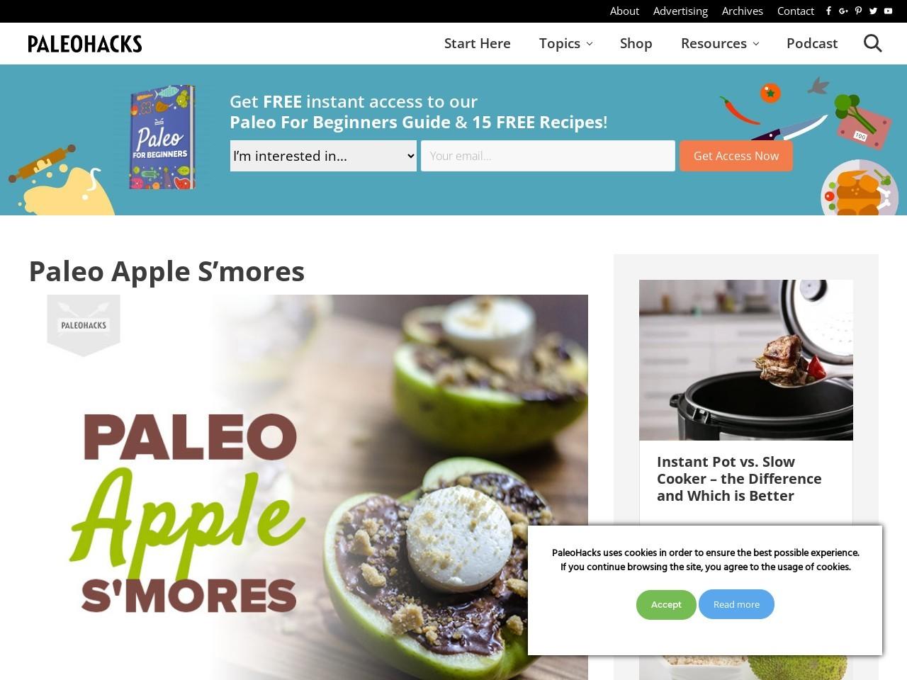 Paleo Apple S'mores