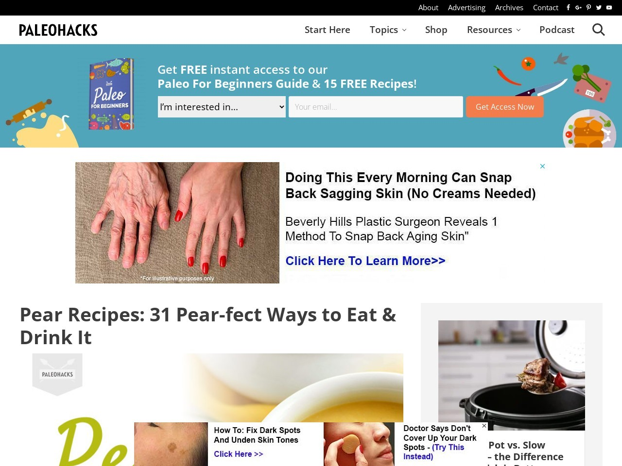 Pear Recipes: 31 Pear-fect Ways to Eat & Drink It