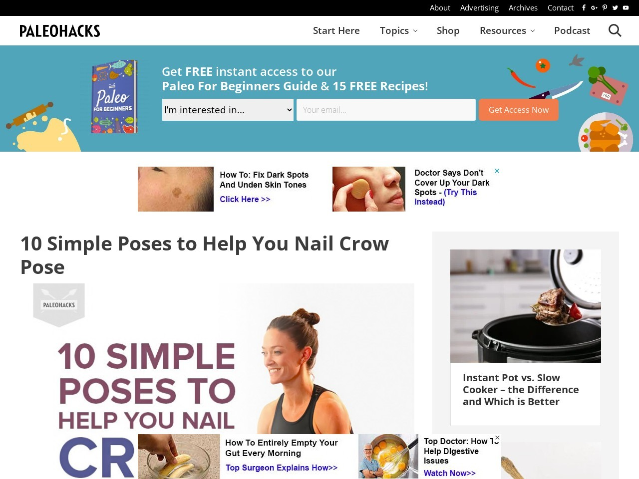 10 Simple Poses to Help You Nail Crow Pose