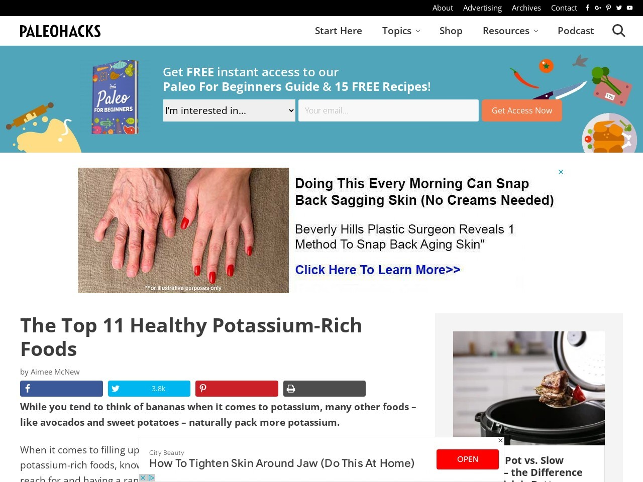 The Top 11 Healthy Potassium-Rich Foods