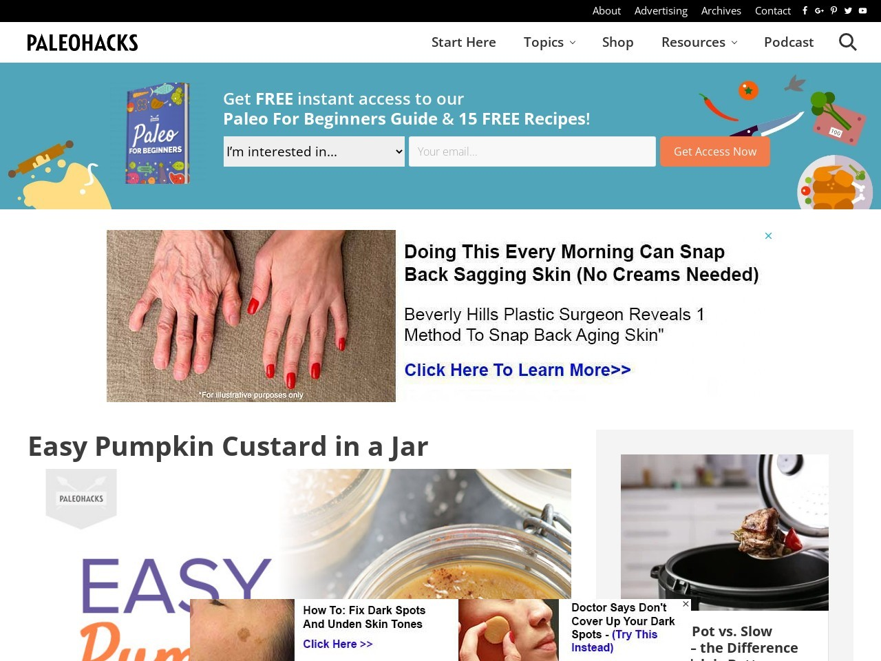 Easy Pumpkin Custard in a Jar